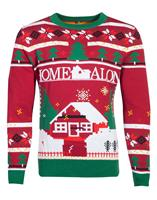 Difuzed Home Alone Knitted Christmas Sweater Poster Size M