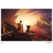 Iron Gut Publishing Sea Of Thieves - Kraken Encounter Limited Edition Art Print Measures 41.91 x 29.72cm