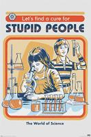 Pyramid International Steven Rhodes Poster Pack Let's Find A Cure For Stupid People 61 x 91 cm (5)