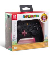 PowerA Wired Controller for Nintendo Switch Princess Peach Shadow Ergonomic Black with Pink on Back 1508200