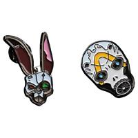 Weta Borderlands Collectors Pins 2-Pack Bunny & Psycho Mask