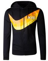 Difuzed Atari Hooded Sweater Pong Wave Stripe Size S