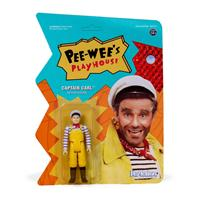 Super7 Pee-wee's Playhouse ReAction Action Figure Captain Carl 10 cm
