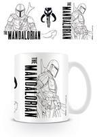 Pyramid International Star Wars The Mandalorian Mug Line Art
