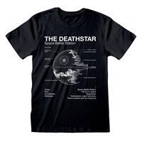 Heroes Inc Star Wars T-Shirt Death Star Sketch Size XL