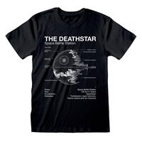 Heroes Inc Star Wars T-Shirt Death Star Sketch Size S