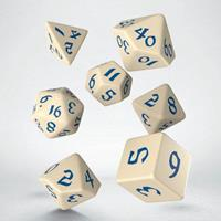 Q Workshop Classic RPG Runic Dice Set beige & blue (7)