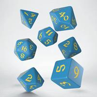 Q Workshop Classic RPG Runic Dice Set blue & yellow (7)
