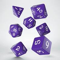 Q Workshop Classic RPG Runic Dice Set purple & white (7)