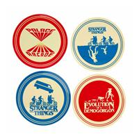 Funko Stranger Things Plates 4-Pack Silhouette