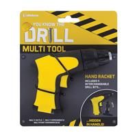 Paladone Products You Know The Drill Hand Rachet Multi Tool