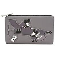 Loungefly Disney by  Wallet Mickey Mouse Vintage Grey