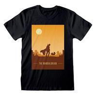 Heroes Inc Star Wars The Mandalorian T-Shirt Retro Poster Size L