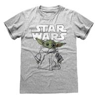 Heroes Inc Star Wars The Mandalorian T-Shirt Child Sketch Size M