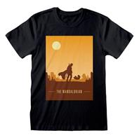 Heroes Inc Star Wars The Mandalorian T-Shirt Retro Poster Size XL