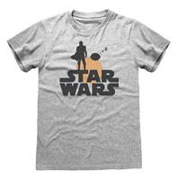 Heroes Inc Star Wars The Mandalorian T-Shirt Silhouette Size S