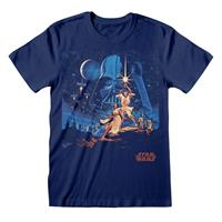 Heroes Inc Star Wars T-Shirt New Hope Vintage Poster Size L
