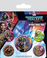 Pyramid International Guardians of the Galaxy Vol. 2 Pin Badges 5-Pack Rocket & Groot