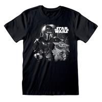 Heroes Inc Star Wars The Mandalorian T-Shirt BW Photo Size XL