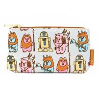 Loungefly Star Wars by  Coin/Cosmetic Bag Pastel Ewoks AOP