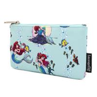 Loungefly Disney by  Coin/Cosmetic Bag The Little Mermaid Ariel Scenes AOP