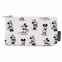 Loungefly Disney by  Coin/Cosmetic Bag Pastel Minnie Mickey AOP