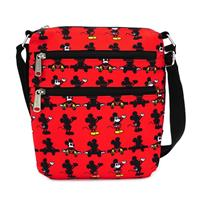 Loungefly Disney by  Passport Bag Mickey Parts AOP