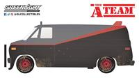 Greenlight Collectibles A-Team Diecast Model 1/24 1983 GMC Vandura Weathered Version with Bullet Holes
