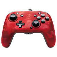 pdp Face-off Deluxe Switch Controller + Audio (Camo Red)