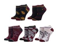 Bioworld Harry Potter Ladies Ankle Socks 5-Pack Gryffindor