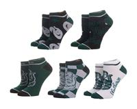 Bioworld Harry Potter Ladies Ankle Socks 5-Pack Slytherin