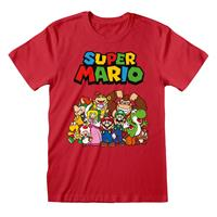 Heroes Inc Super Mario T-Shirt Main Character Group Size M