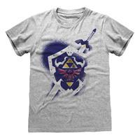 Heroes Inc Legend Of Zelda T-Shirt Shield Size XL