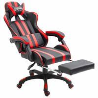 vidaXL Gamingstoel met voetensteun kunstleer rood