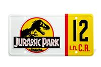 Doctor Collector Jurassic Park Replica 1/1 Dennis Nedry License Plate