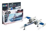Revell Star Wars Model Kit 1/50 Model Set Resistance X-Wing Fighter 25 cm