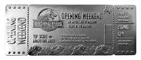 FaNaTtik Jurassic Park Replica Opening Weekend VIP Ticket (silver plated)