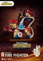 Beast Kingdom Toys Minions D-Stage PVC Diorama Fire Fighter 15 cm