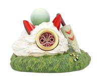 Benelic Princess Mononoke Table Clock On the Sun's Mask 7 cm