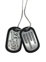 FaNaTtik Rambo Dog Tags with ball chain Logo