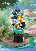Beast Kingdom Toys Disney Coin Ride Series D-Stage PVC Diorama Stitch 16 cm
