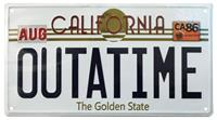FaNaTtik Back To The Future Metal Sign ´Outatime´ DeLorean License Plate