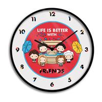 Pyramid International Friends Wall Clock Life is Better with Friends Chibi