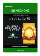 microsoft Halo 5: Guardians: 34 Gold REQ Packs + 13 Free