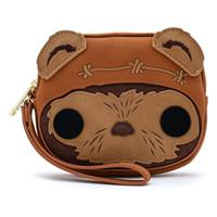 Loungefly Star Wars POP! by  Coin/Cosmetic/Wristlet Bag Wicket Head