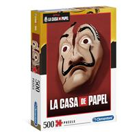 Clementoni Money Heist Jigsaw Puzzle Mask (500 pieces)