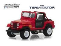 Greenlight Collectibles Terminator Diecast Model 1/18 1983 Jeep CJ-7 Renegade with Figure