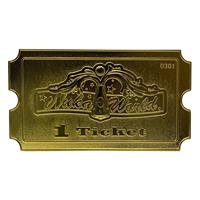 FaNaTtik Fallout Replica Nuka World Ticket (gold plated)