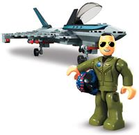 Mattel Top Gun: Maverick Mega Construx Wonder Builders Construction Set Boeing F/A-18E Super Hornet