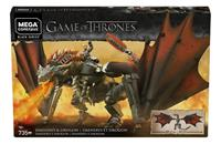 Mattel Game of Thrones Mega Construx Black Series Construction Set Daenerys & Drogon